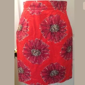 LILLY PULITZER Pencil Skirt High Waisted Floral